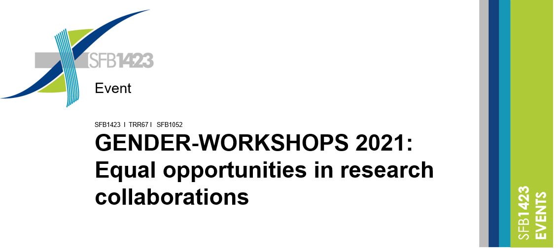 GENDER-WORKSHOPS 2021: Equal opportunities in research collaborations