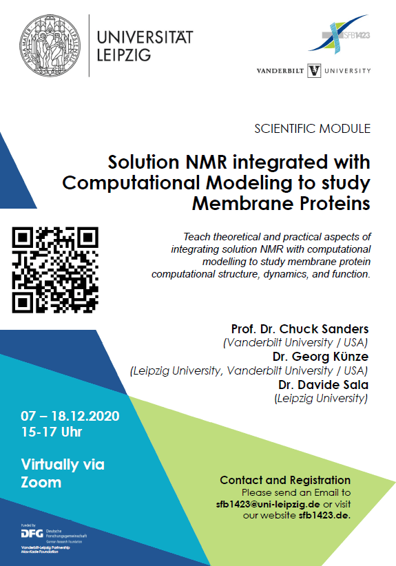 """07-18.12.2020: Module """"Solution NMR integrated with Computational Modeling to study Membrane Proteins"""""""