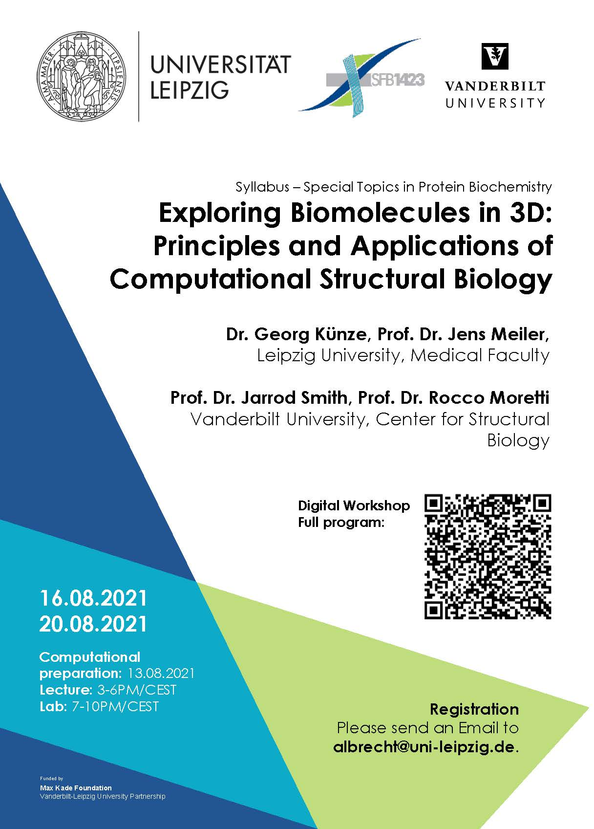 """16-20.08.2021: Module """"Exploring Biomolecules in 3D: Principles and Applications of Computational Structural Biology"""""""